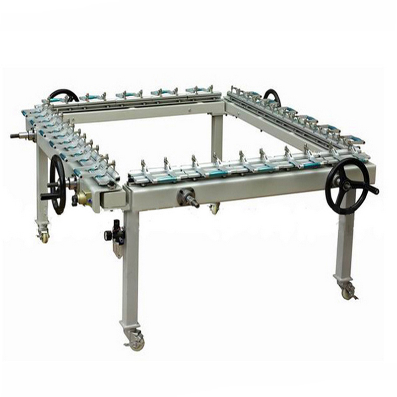 Pneumatic screen mesh stretching machine supplier