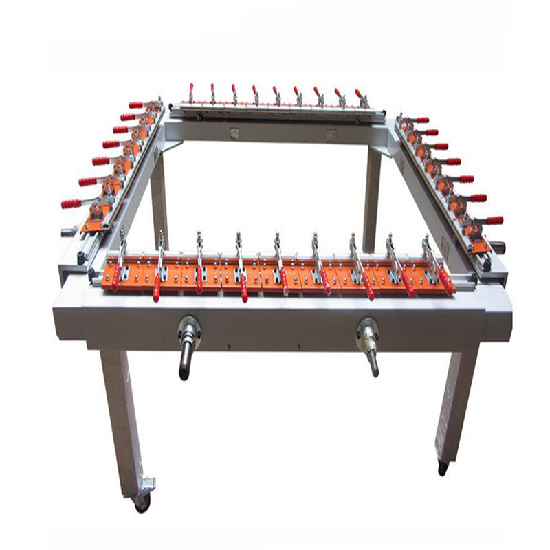 Double clamp stretching machine manufacture