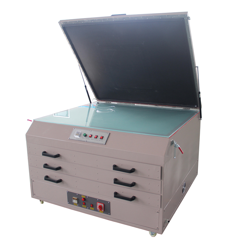 screen exposure and drying unit manufacture