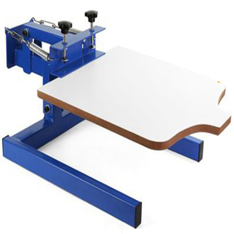 1 Color 1 station screen printer pallet