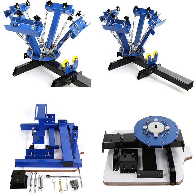 Manual 4 Color 1 Station T-shirt Silk Screen Printing Machine