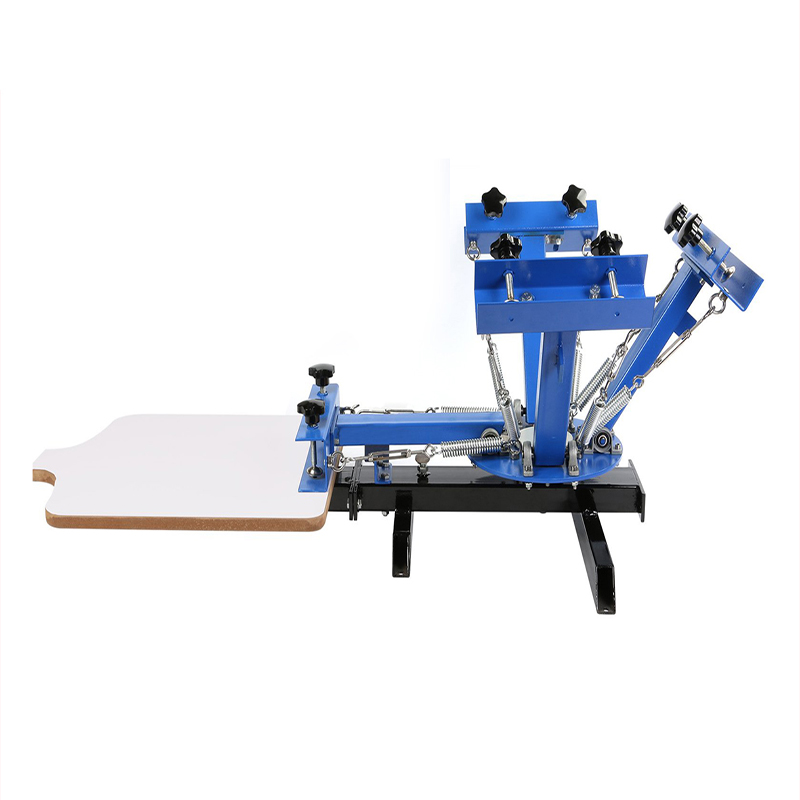 4 color 1 station T shirt printing machine manufacture