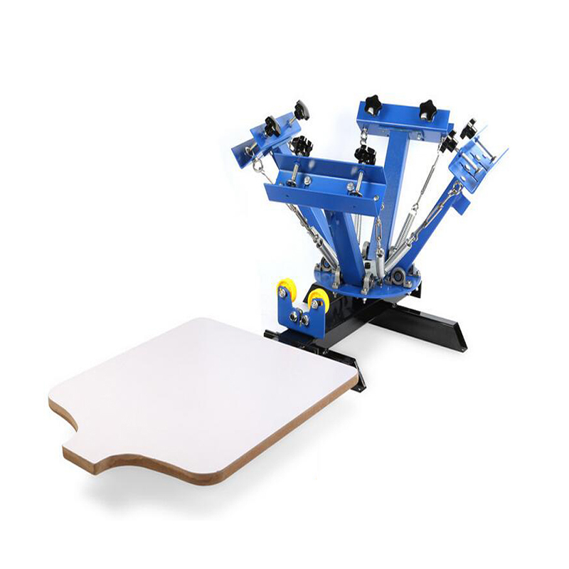 4 color 1 station T shirt small screen printing machine price