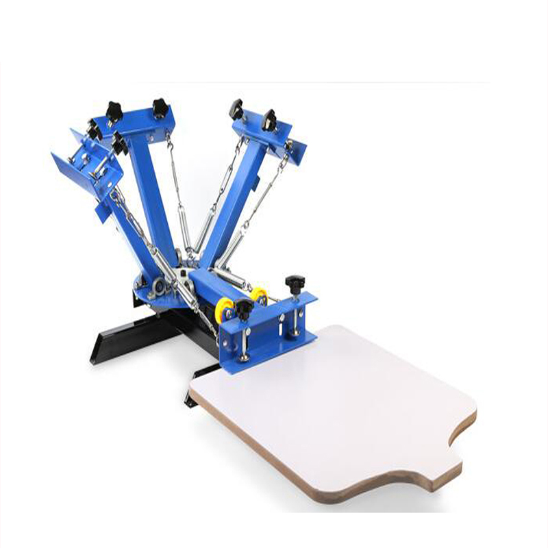 T-shirt 4 Color 1 Station Silk Screen Printing machine