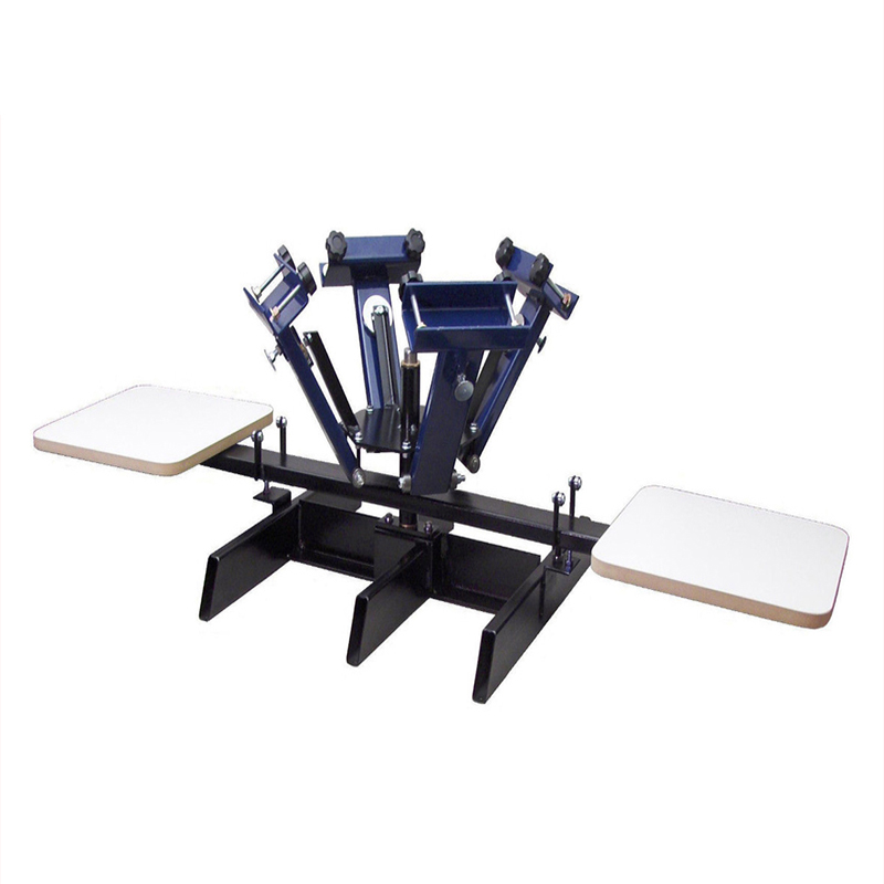 4 color 2 station manual  screen printing machine