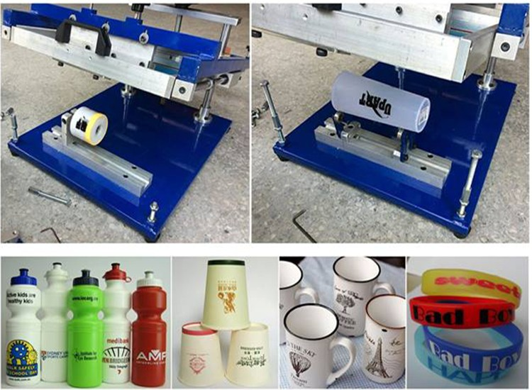 Manual cylindrical machine for cups