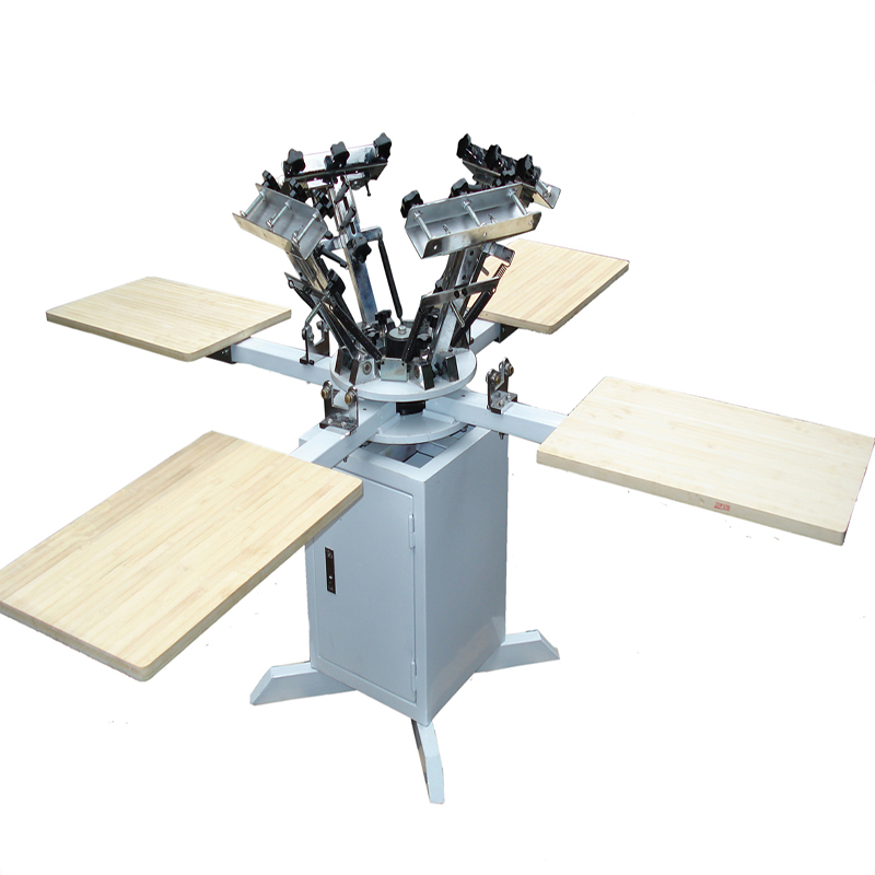 Box type manual rotary screen print machine