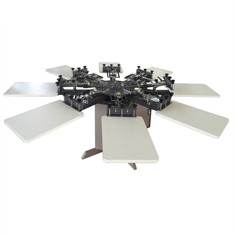 8x8 T shirt machine with micro registration