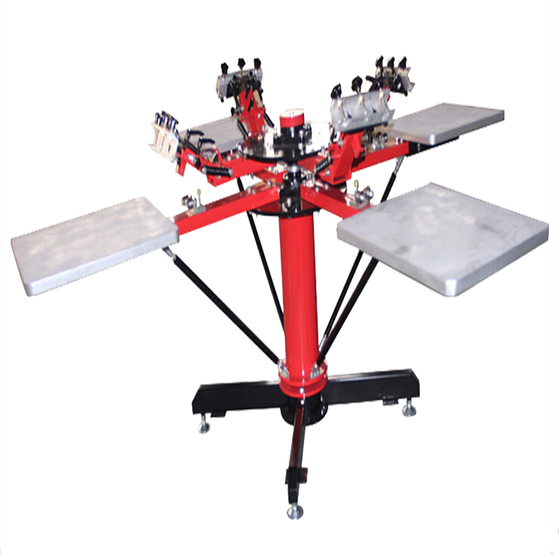 4x4 multicolor screen printing machine for t shirt