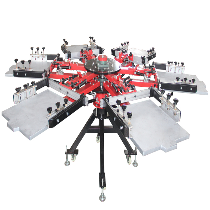 T shirt printing machine with double side clamp