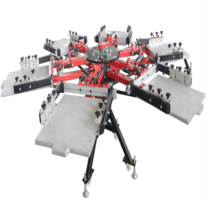 6 color 6 station double side clamp machine
